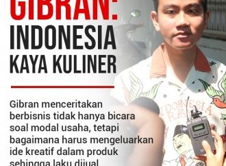 Gibran Mengatakan Indonesia Punya Kekayaan Kuliner