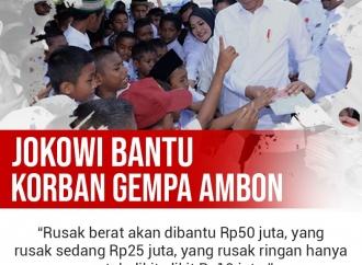Presiden Jokowi Bantu Korban Gempa Ambon