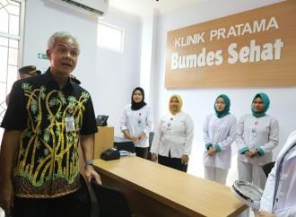 Ganjar Resmikan Klinik yang Sahamnya Dimiliki 159 Desa