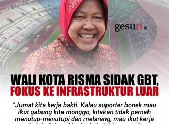 Wali Kota Risma Sidak GBT, Fokus ke Infrastruktur Luar