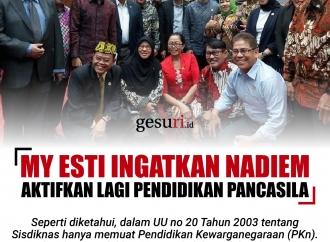 My Esti Ingatkan Nadiem Aktifkan Lagi Pendidikan Pancasila