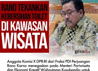 Rano Karno Tekankan Kebersihan Toilet di Kawasan Wisata
