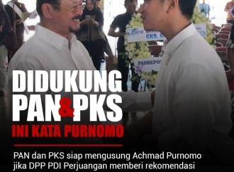 Didukung PAN dan PKS, Ini Kata Purnomo tentang Pilkada