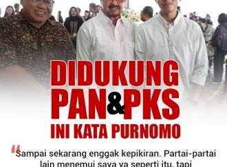 Didukung PAN dan PKS, Ini Kata Purnomo Soal Pilkada