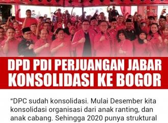 DPD PDI Perjuangan Jawa Barat Konsolidasi ke Bogor