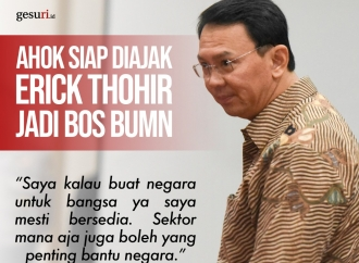 Ahok Siap Diajak Erick Thohir jadi Bos BUMN
