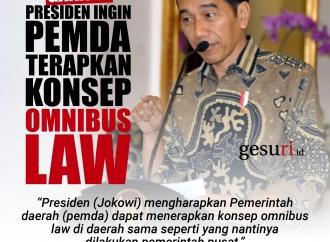 Ganjar: Presiden Ingin Pemda Terapkan Omnibus Law