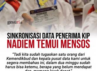 Untuk Sinkronisasi Data Penerima KIP, Nadiem Temui Mensos