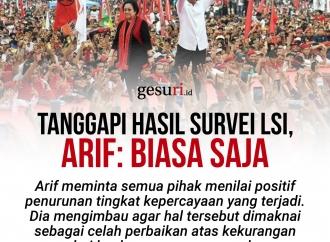 Tanggapi Survei LSI, Arif Wibowo: Tak Perlu Dikhawatirkan