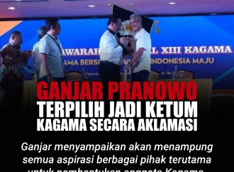 Ganjar Pranowo Terpilih Jadi Ketum Kagama Secara Aklamasi