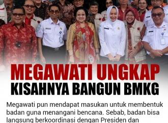 Megawati Soekarnoputri Ungkap Kisahnya Saat Bangun BMKG