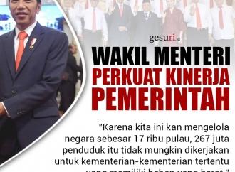 Wakil Menteri Memperkuat Pemerintahan Jokowi-Ma'ruf