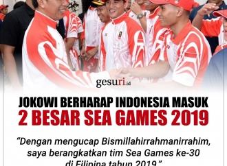 Jokowi Berharap Indonesia Masuk 2 Besar SEA Games 2019