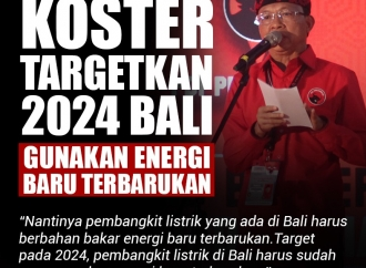 Koster Targetkan 2024 Bali Gunakan Energi Baru Terbarukan