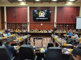 Rapat Kerja Baleg DPR RI dengan Menkumham dan PPUU DPD RI