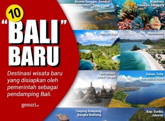 """10 """"Bali"""" Baru, Destinasi Wisata Baru Disiapkan Pemerintah"""