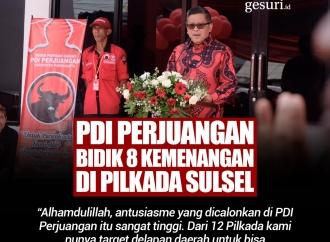PDI Perjuangan Bidik 8 Kemenangan di Pilkada Sulsel