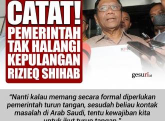 Catat! Pemerintah Tak Halangi Kepulangan Rizieq Shihab