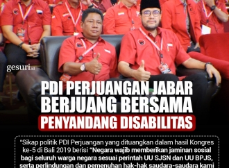 PDI Perjuangan Jabar Berjuang Bersama Penyandang Disabilitas