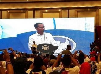 Kongres Projo, Jokowi Disambut Ratusan Relawan