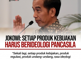 Jokowi: Setiap Produk Kebijakan Harus Berideologi Pancasila