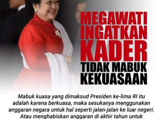Megawati Ingatkan Kader PDI Perjuangan Tak Mabuk Kekuasaan