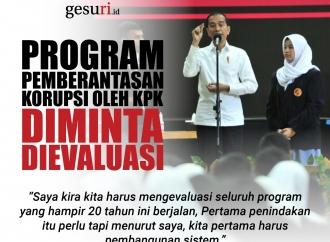 Program Pemberantasan Korupsi oleh KPK Diminta Evaluasi