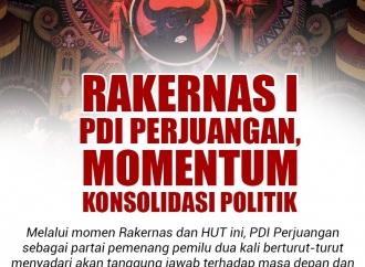 Rakernas I PDI Perjuangan Momentum Konsolidasi Politik