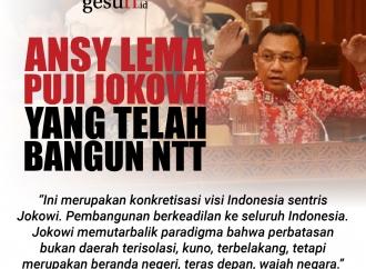 Ansy Lema Puji Presiden Jokowi yang Telah Membangun NTT