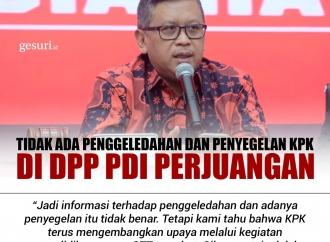 Tidak Ada Penggeledahan dan Penyegelan KPK di DPP