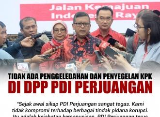 Tidak Ada Penggeledahan dan Penyegelan KPK di DPP PDI Perjua