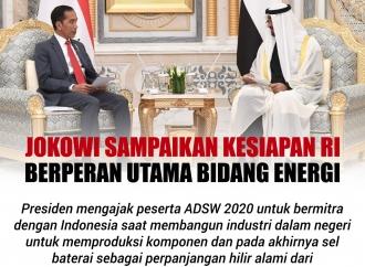 Jokowi Sampaikan Kesiapan RI Berperan Utama di Bidang Energi