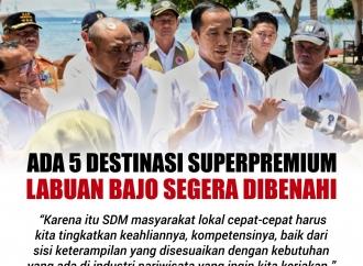 Ada 5 Destinasi Superpremium Labuan Bajo Segera Dibenahi