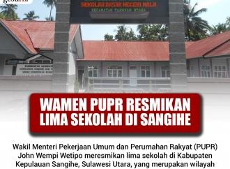Wakil Menteri PUPR Resmikan Lima Sekolah di Sangihe