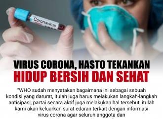 Virus Corona, Hasto Tekankan Hidup Bersih dan Sehat