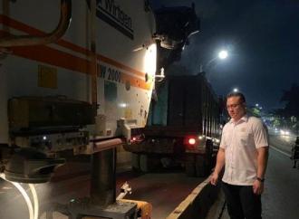 Kent Sidak Pengerjaan Perbaikan Jalan Layang Pesing
