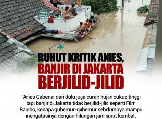 Ruhut Kritik Anies Banjir di Jakarta Berjilid-jilid