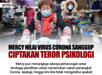 Mercy Nilai Virus Corona Sanggup Ciptakan Teror Psikologi