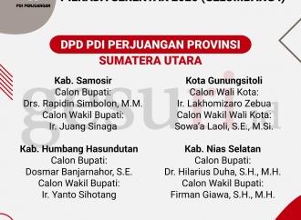Daftar Calon Kepala Daerah PDI Perjuangan Pilkada 2020