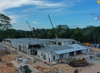 Konstruksi RS Khusus Covid-19 di Pulau Galang Sudah 78%