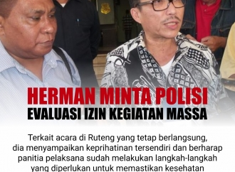 Herman Herry Minta Polisi Evaluasi Izin Kegiatan Massa