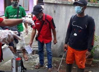 PDI Perjuangan Cibubur Gelar Penyemprotan Disinfektan