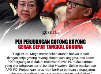 PDI Perjuangan Gotong Royong Gerak Cepat Tangkal Corona