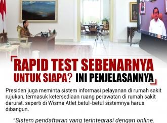 Rapid Test Sebenarnya untuk Siapa? Ini Penjelasannya