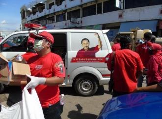 Endro Yahman & PDI Perjuangan Pringsewu Kampanye Cegah Covid