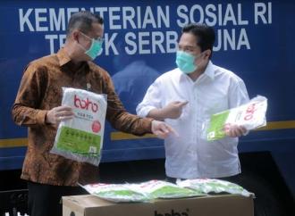 Juliari Serahkan Bantuan 20 Ribu APD ke Kementerian BUMN