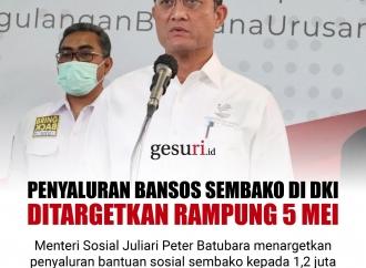 Penyaluran Bansos Sembako di DKI Ditargetkan Rampung 5 Mei