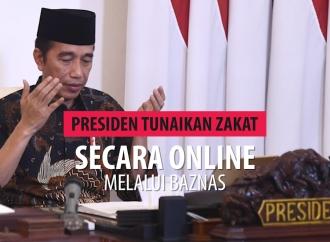 Presiden Tunaikan Zakat Secara Online Melalui Baznas