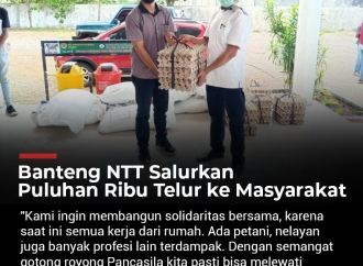 Banteng NTT Salurkan Puluhan Ribu Telur ke Masyarakat