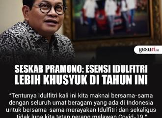 Seskab Pramono: Esensi Idul Fitri Lebih Khusyuk di Tahun Ini